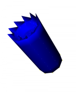 Visual model of the modified volume (Surface Option)