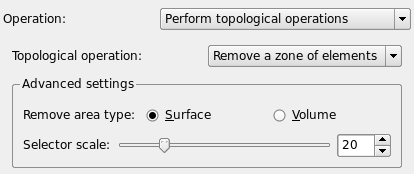 Topological Operations menu GUI